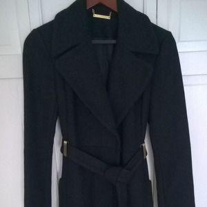 Diane von Furstenberg Jackets & Blazers - Diane von Furstenberg Mikhaila Coat in Black