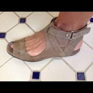 7 for all mankind taupe sandals