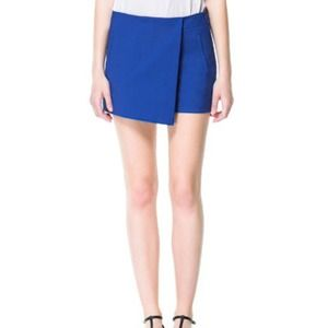 zara blue skort new xs