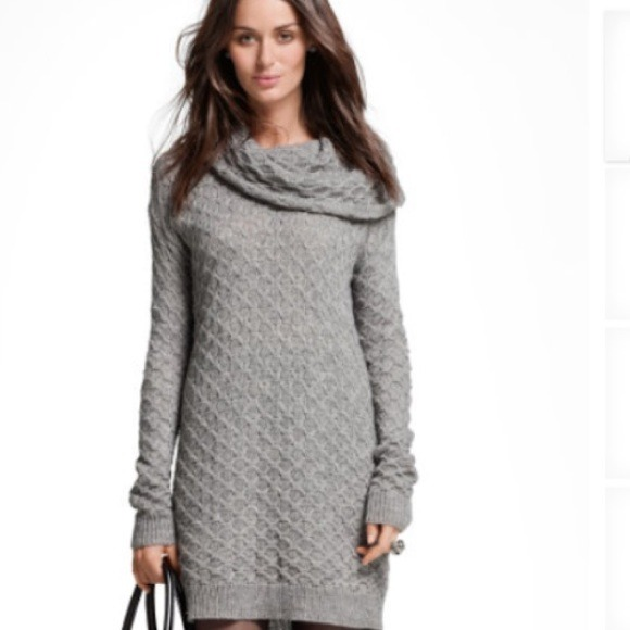 da7006e3a6e H M Dresses   Skirts - Grey Cowl Neck Knit Sweater Dress