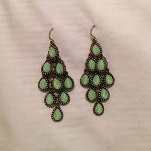 Long tear drop earrings