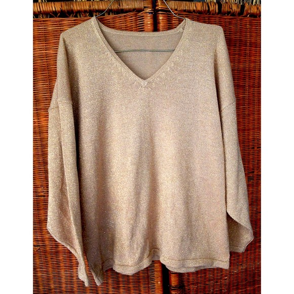 73% off boutique Sweaters - 🚫SOLD🚫Beautiful cream and gold color ...