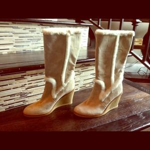 Coach wedge boots