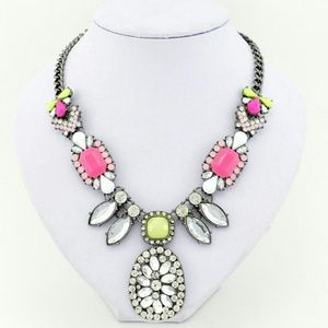 Stunning neon statement necklace
