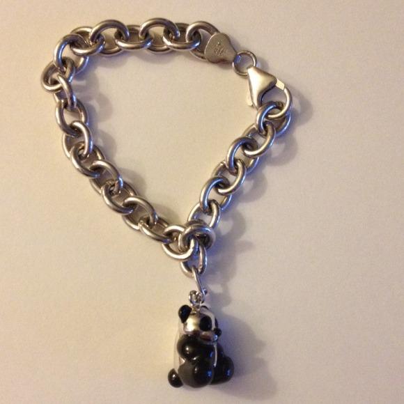 Kays Charm Bracelets: Sterling Silver Panda Charm