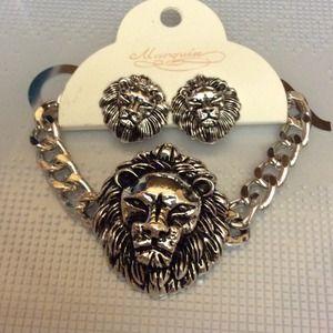 Jewelry - Lion Bracelet w/ Earrings 1 left