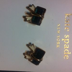New green bows kate spade earrings