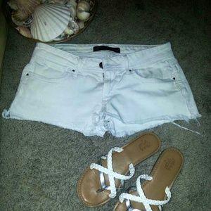 Denim - Sexy Size 5 white cut off shorts