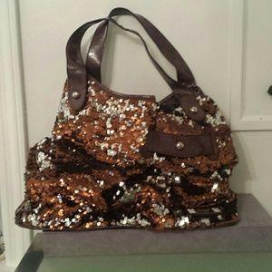 Nicole Lee Bags - Copper sequin shoulder bag 4f5952e89f79e