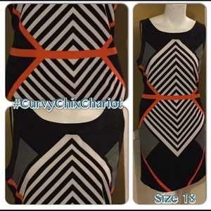 Dresses & Skirts - Size 18 classy dress. Never worn! Contour design.