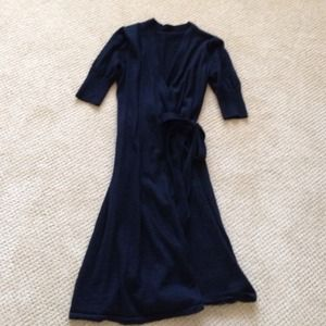 Dresses & Skirts - Black sweater wrap dress