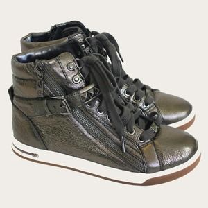 NEW Michael Kors studded metallic hightop sneakers