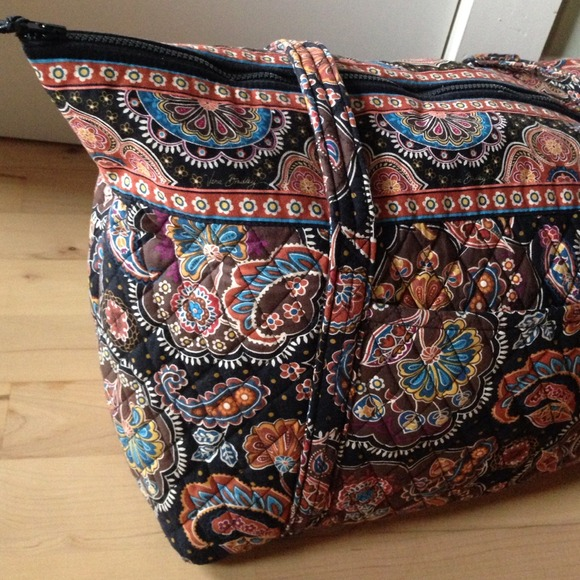 49% off Vera Bradley Handbags - Vera Bradley Large Zipper Tote in ...