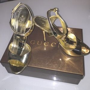 Gucci Sand Pelle S Cuoio Platino N Shoe