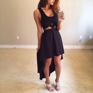 •Last Item• Keepsake Black Cut Out High-Lo Dress