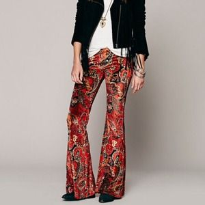 Free People Pants - Free people velvet Janis flare bell bottoms