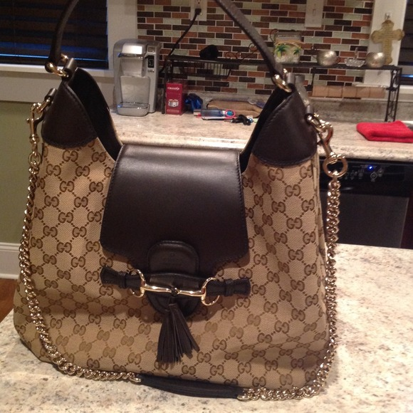 832b27bf61b0 Gucci Bags | Authentic Emily Canvas Hobo Bag | Poshmark