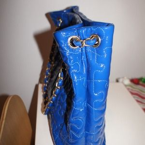 Chanel Bags Electric Blue Patent Leather Puzzle Tote