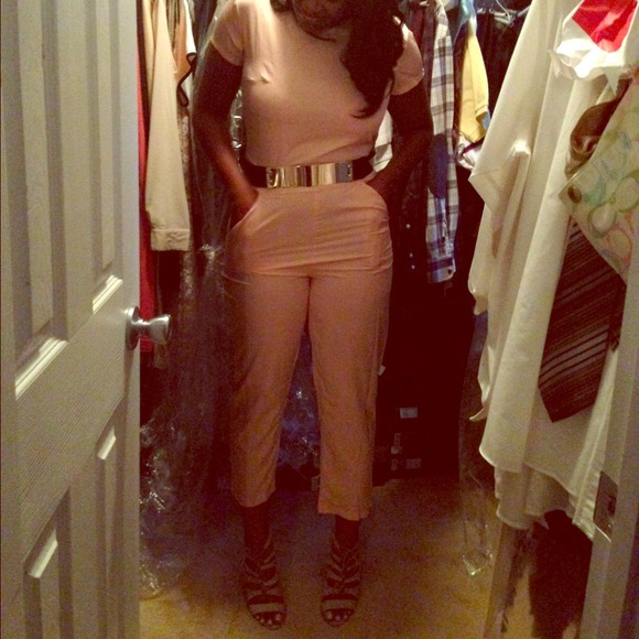 56% off Missguided Pants - Blush Pink jumpsuit from Shekila's ...