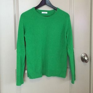 Equipment cashmere crewneck sweater kelly green