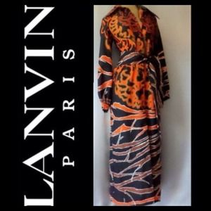Lanvin Dresses & Skirts - AUTHENTIC VINTAGE 70s LANVIN MAXI DRESS