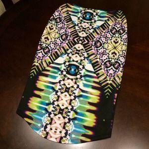 Laser print skirt