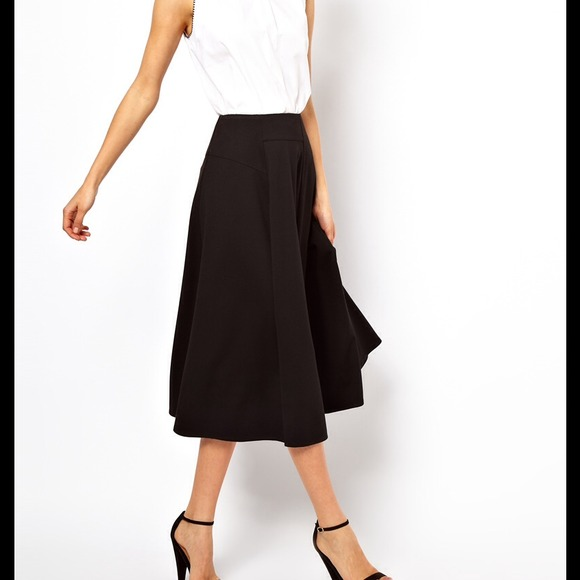 50% off ASOS Dresses & Skirts - Asos black cotton midi skirt from ...