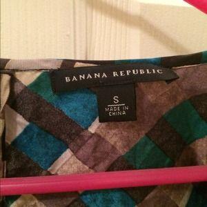 Banana Republic Tops - Banana Republic Patterned Silk Blouse