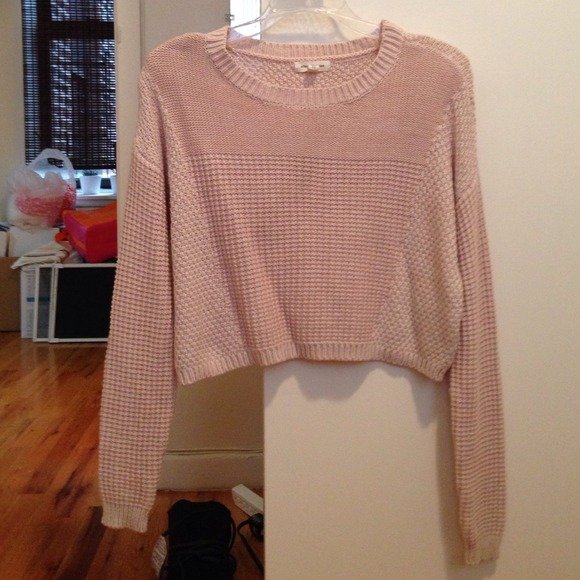 Urban Outfitters Sweaters Light Pink Crop Top Sweater Poshmark