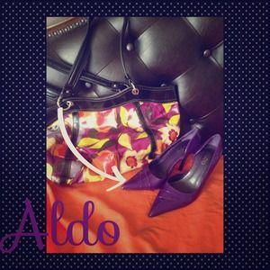 ALDO purple patent pumps 38