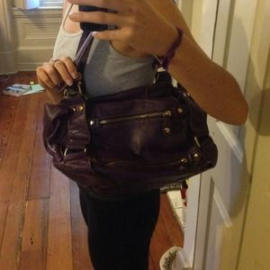 Purple leather melie bianco handbag