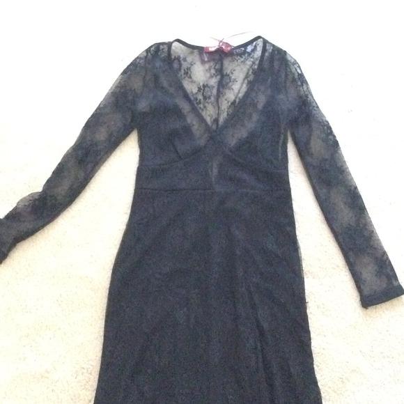 Black Lace Maxi Dress Nwt
