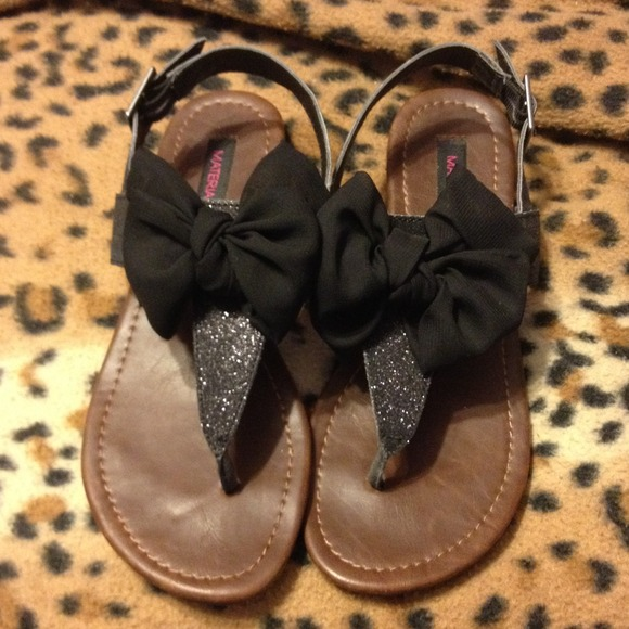 Black Bow Sandals   Poshmark