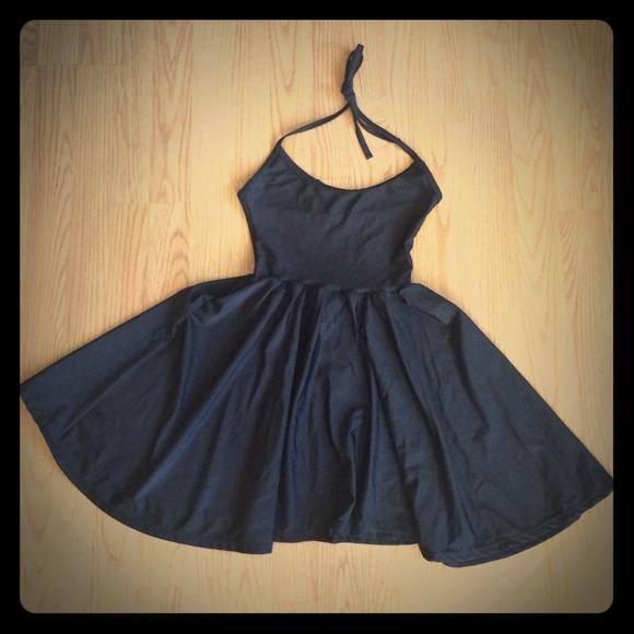 American Apparel Dresses   Skirts - Black Nylon Tricot Figure Skater Dress ac9444a55
