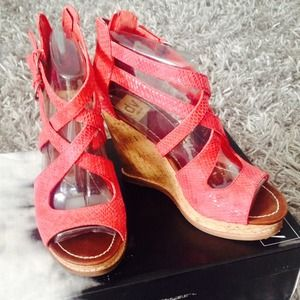 Dolce Vita Tyla Red Snake Leather sandals