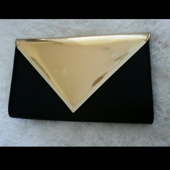 65c624a5b1d ALDO Clutches   Wallets - ALDO black gold envelope clutch