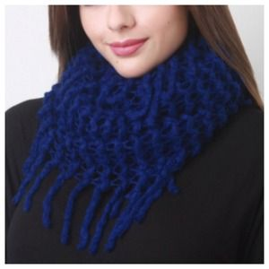 Accessories - Royal Blue Fringe Infinity Scarf