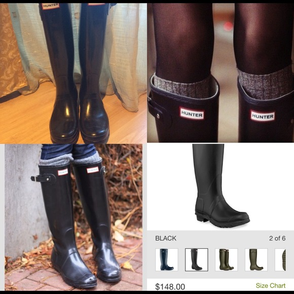 0e57f9f8089f Hunter Boots - 💯Authentic Hunter Original well black rain boots