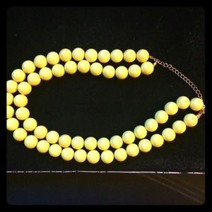 Yellow Bead Tiered Necklace