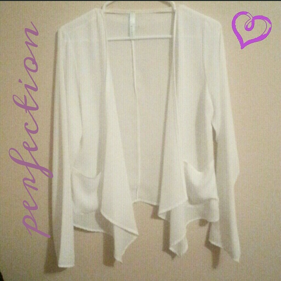 2 hour sale*Sheer white cardigan L from Lindsey's closet on Poshmark