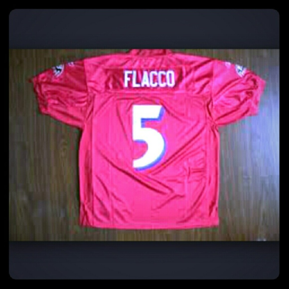 cheap for discount f5ab3 73c5c Baltimore Ravens RED Flacco jersey