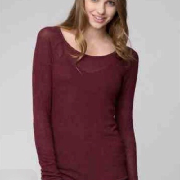 63% off Brandy Melville Sweaters - Brandy Melville new burgundy ...