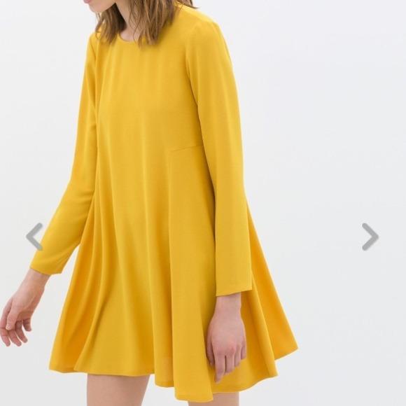 Zara - SOLD! Zara Yellow Baby Doll Long Sleeve Dress from Y's ...