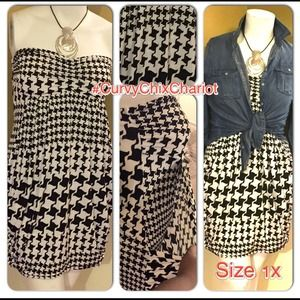 Dresses & Skirts - Who doesn't love #Houndstooth! New dress. Size 1X.