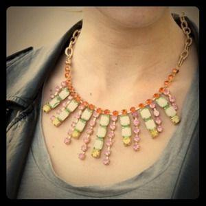 Jewelmint Mardi Gras Gold Statement Necklace