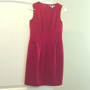Banana republic red satin dress