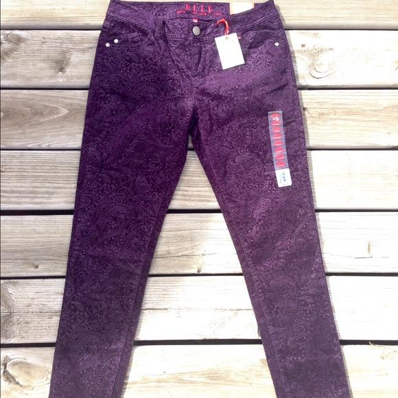 58% off Elle Pants - ELLE Paisley Skinny Corduroy Pants from ...
