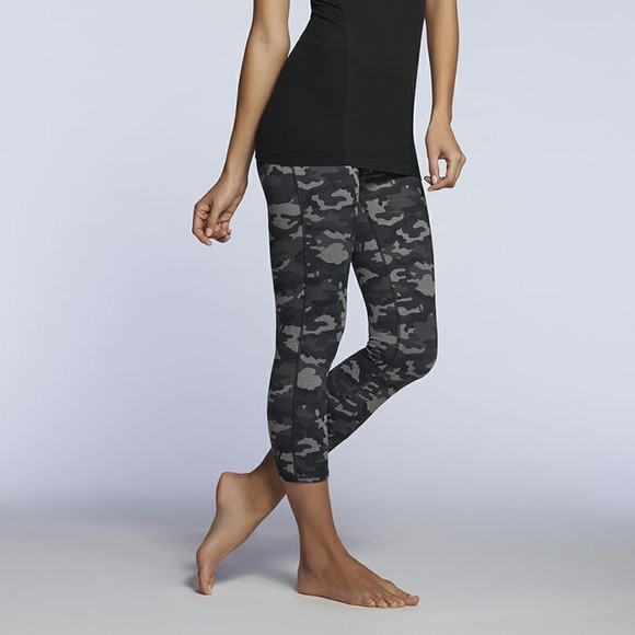 42% off Fabletics Pants - Fabletics grey and black Camo Capri from ...