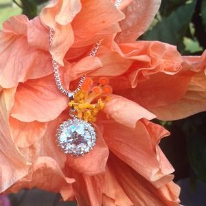 """Jewelry - 🎉HOST PICK🎉925 Silver Cubic Zirc 16"""" Necklace"""