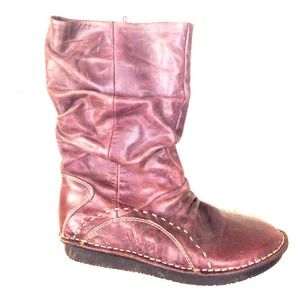 35 Off Boots Groundhog Ringo Plum Leather Boots From